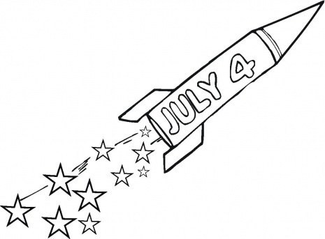 4th of July printable coloring pages