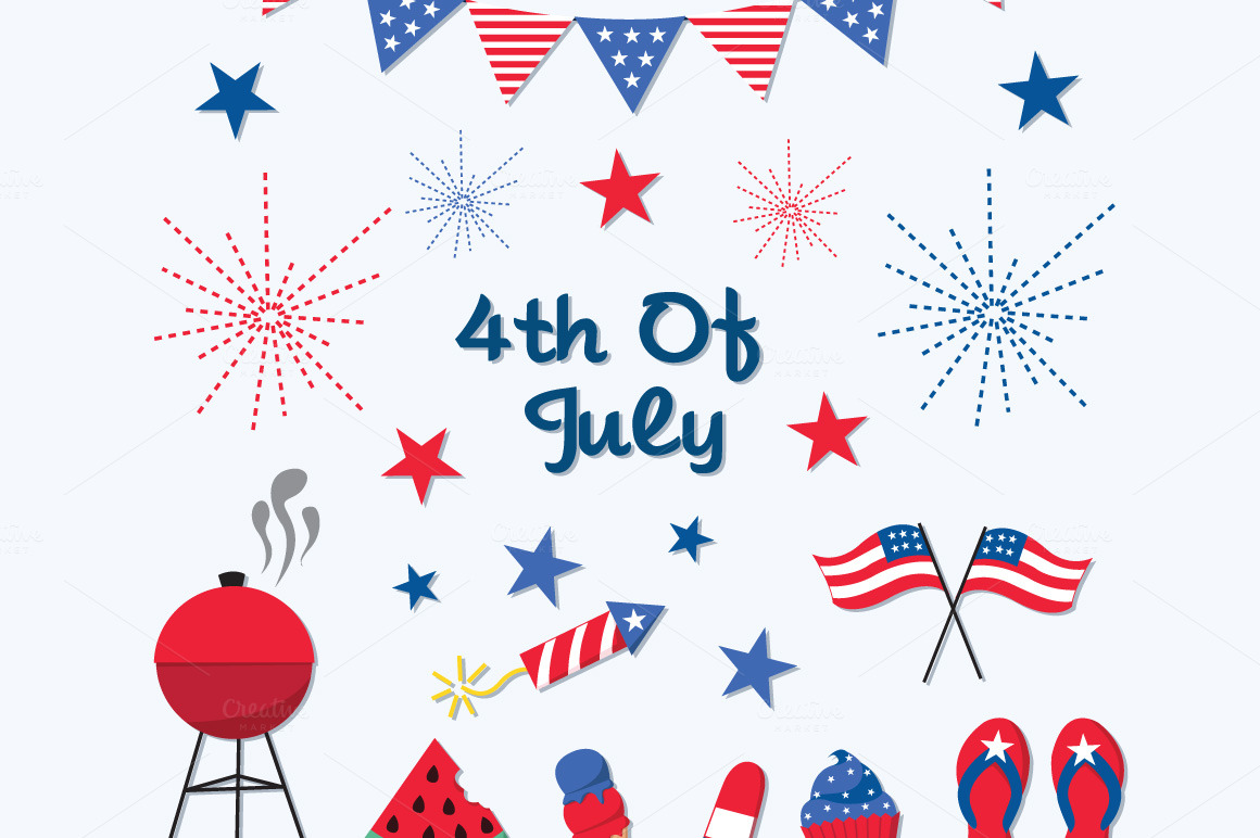 4th of july simple. Th animated archives