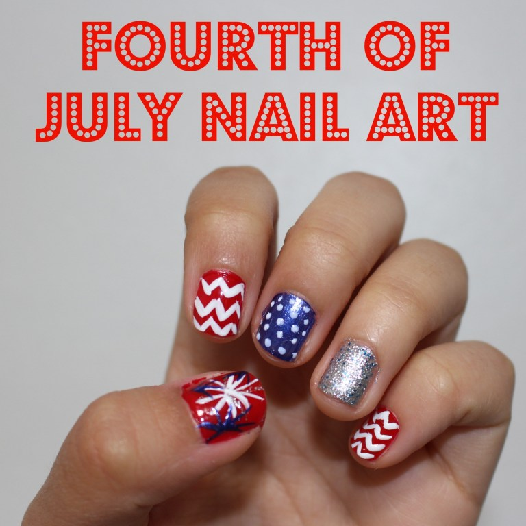Fourth of July Nail Arts