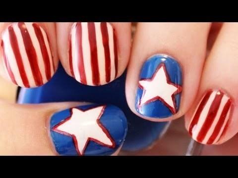 Happy 4th of July toenail designs
