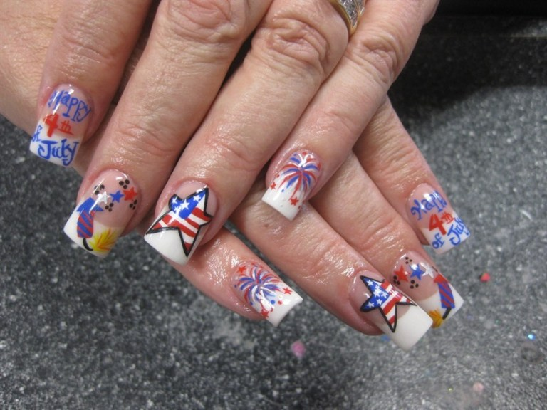 nail designs 4th of July
