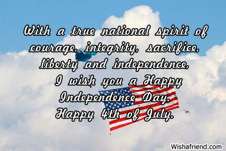 wishes for 4th of July